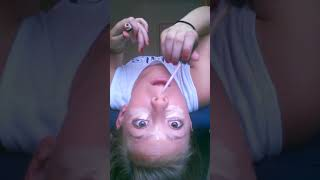 Doing my makeup upside down part 1