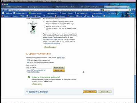 Self Publish your e-book on Kindle Direct Publishing (KDP) service — Part 4