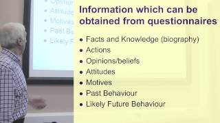 Question Types&piloting. Part 1 Of 3 On Questionnaire Design