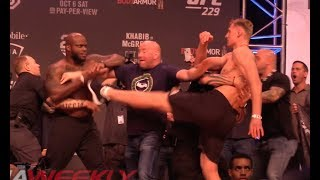 Video UFC 229 Ceremonial Weigh-In: Derrick Lewis & Alexander Volkov Come to Near Blows MP3, 3GP, MP4, WEBM, AVI, FLV Februari 2019