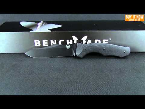 "Benchmade 183SBK Contego Fixed Blade Knife (4.97"" Black Serr)"