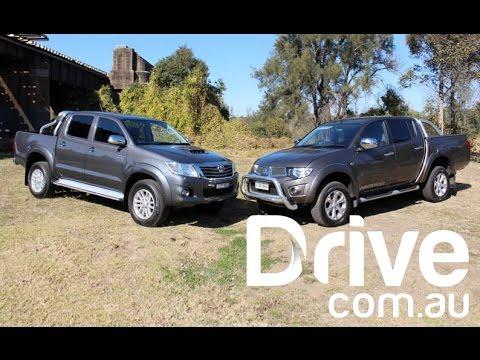 Mitsubishi Triton v Toyota HiLux Comparison Review | Drive.com.au