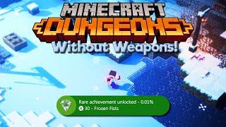 I Inspired an Achievement in Minecraft Dungeons! • Barefist Steve vs Creeping Winter DLC