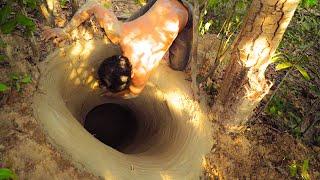 Строительство самого секретного подземного дома с бассейном и с горкой