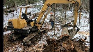 Video Clearing trees for a new driveway MP3, 3GP, MP4, WEBM, AVI, FLV Februari 2019