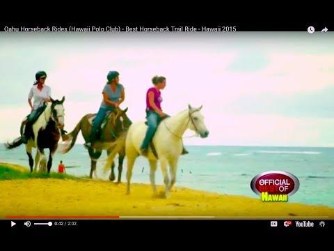 Oahu Horseback Rides (Hawaii Polo Club) - Best Horseback Trail Ride - Hawaii 2015