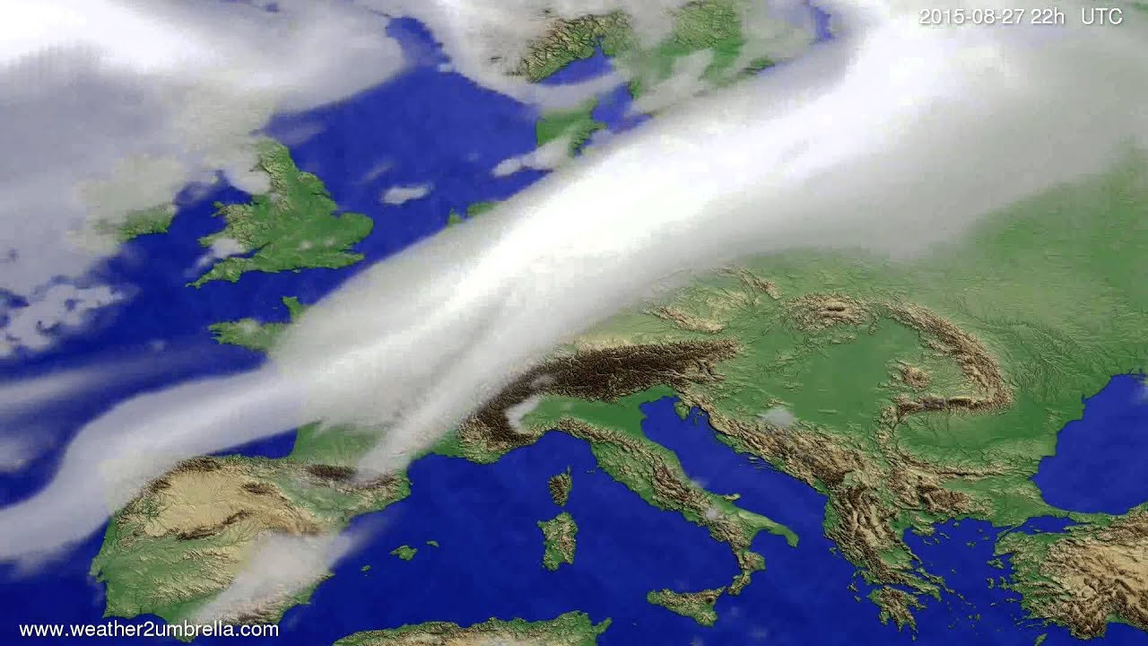 Cloud forecast Europe 2015-08-25