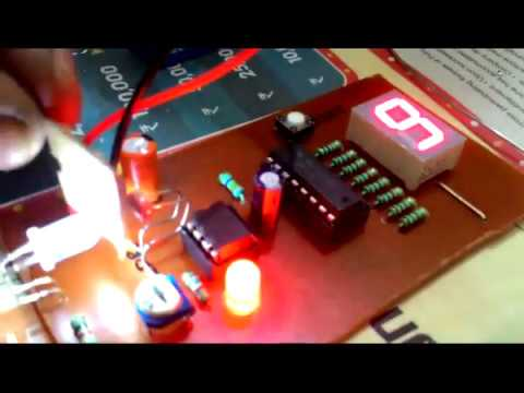 Object counter using IC 555 and IC 4026B