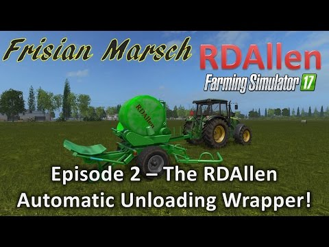 Auto-Unload Silage roundbales Wrapper v1.0