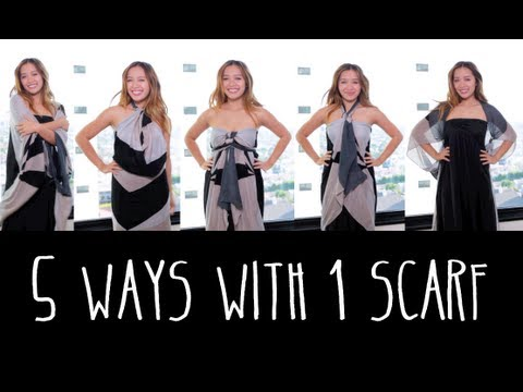 5 Ways to Wear 1 Scarf
