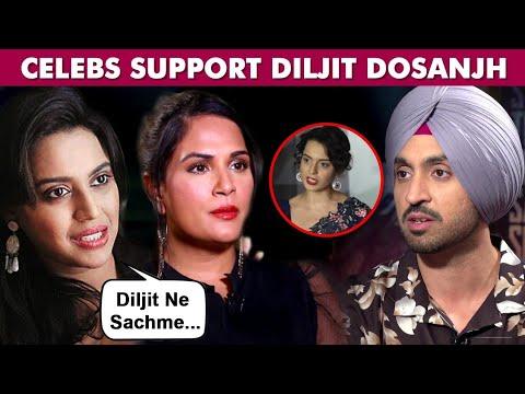 Kangana Ranaut VS Diljit Dosanjh | Bollywood Stars Support Diljit Over Farmers Protest Tweet