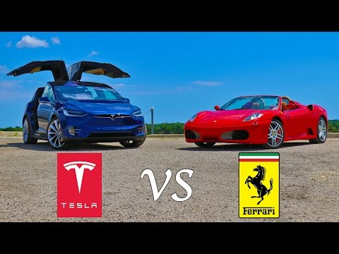 Tesla vs. Ferrari: WHO YOU GOT?