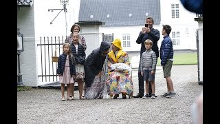 16 July, 2017: Queen Margrethe and the crown prince family attend the horse parade outside Gråsten palace.No copyright intended.