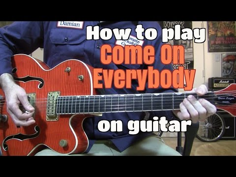 """C'mon Everybody"" Guitar Lesson - Solo & Chords W/tabs"