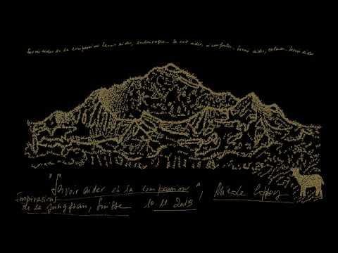 'Savoir aider en la compassion' : Poème calligramme de Nicole Coppey