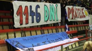 DRUŽBA: Táborské příznivce pojí s fans Žďáru přátelské pouto. Atak vzniklo choreo...
