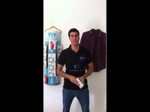 iDry הוראות שימוש - כיצד להדביק את הפדים