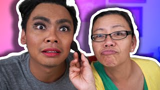 My Mom Does My Make Up!