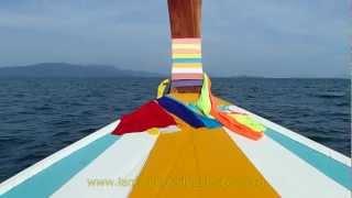 Aboard Longtail Boat At Koh Lanta, Thailand