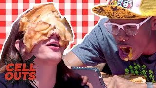 PIE EATING CONTEST GONE WRONG (Cell Outs) by Smosh Games