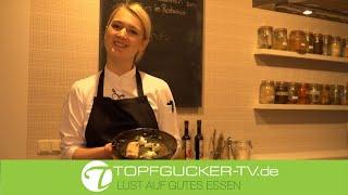 Geflämmte Forelle mit Variation vom Rettich, Schmand und Wildkräutern | Topfgucker-TV