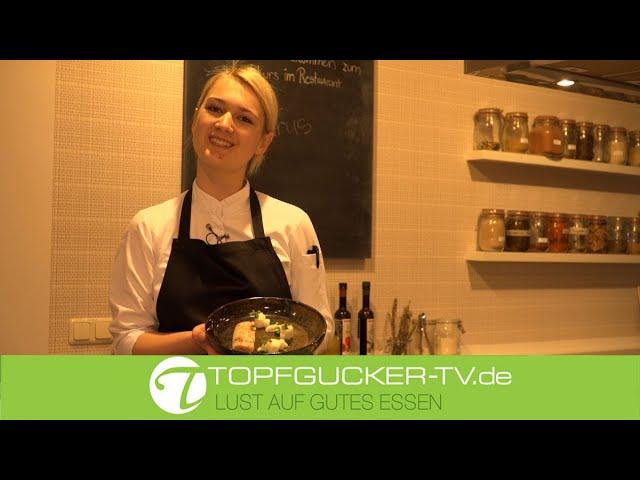 Geflämmte Forelle mit Variation vom Rettich, Schmand und Wildkräutern   Topfgucker-TV
