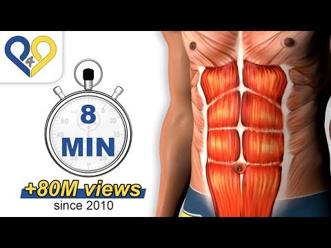 想要人魚線嗎?每日8分鐘練出完美腹肌~
