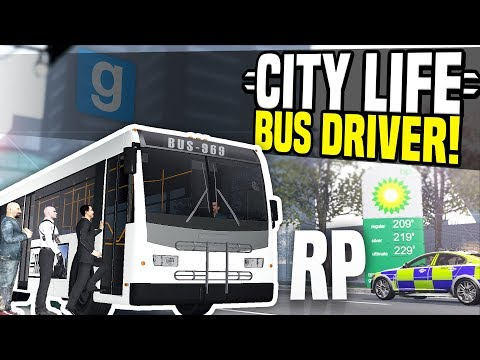 BUS DRIVER ROLEPLAY - City Life #1 | Gmod DarkRP! (видео)