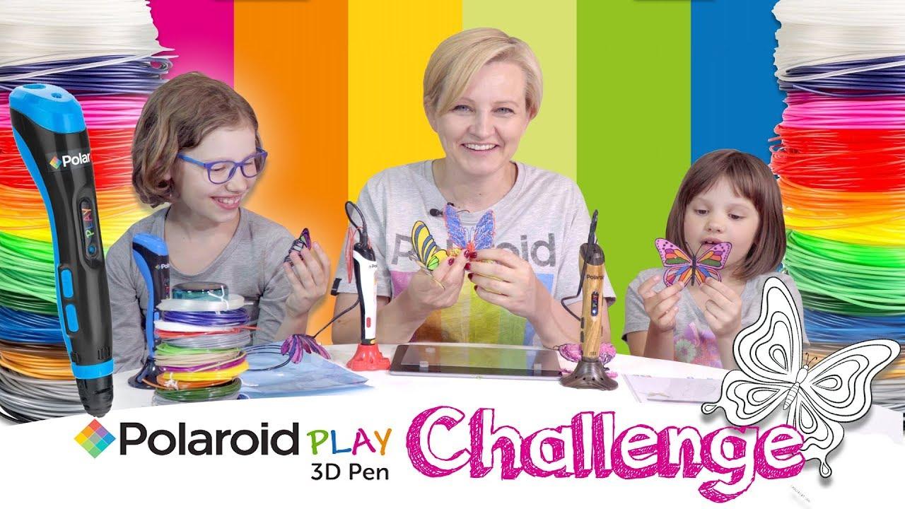 Polaroid Play 3D Pen - Challege - Kto zrobi najładniejszego motyla?