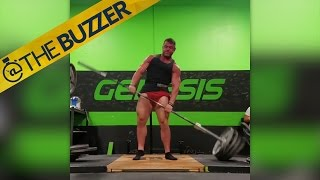 This 805 lb deadlift attempt has a lot going on…until it all goes wrong by @The Buzzer