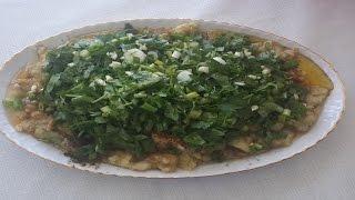 közlenmiş patlıcan salatası nasıl yapılır? közlenmiş patlıcan