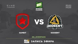 Gambit vs Godsent - ESEA Premier Season 24 - de_overpass [Davidokkk, Kasunagi]
