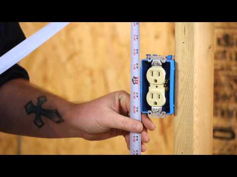 The Minimum Height Of A Wall Outlet : DIY Electrical Work