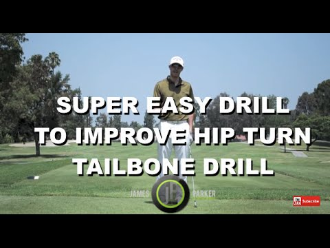 Hip Turn – Improve Your Hip Turn w/1 min Golf Swing Drill – Tailbone Drill