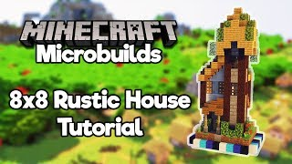 Minecraft Microbuilds: 8x8 Rustic House! [Build Tutorial]