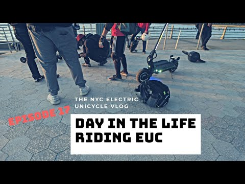 Day In The Life Riding Electric Unicycle EP17 NYC Live Raw Footage Group Ride Central Park Adventure