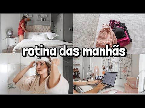 MINHA nova ROTINA DAS MANHÃS (TRABALHO + EXERCÍCIOS + ORGANIZAÇÃO  + BANHO) | Shirley Soares