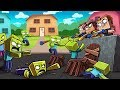 Minecraft  Nerf War Zombie Challenge Deadly Nerf Guns  Zombies Vs House