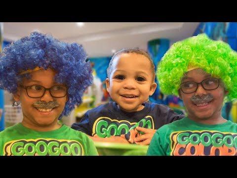 Hair color - GRANDPA'S MAGIC COLOR HAIR! Learn Colors with Fruit Juice! Pretend play with Goo Goo Gaga