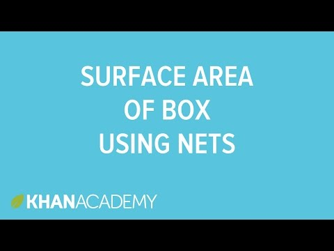 Surface area of a box using nets (video) | Khan Academy
