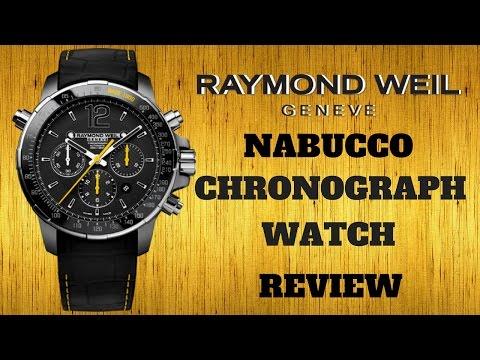 (4K) RAYMOND WEIL NABUCCO MEN'S WATCH REVIEW MODEL: 7850-TIR-05207