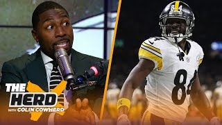 Greg Jennings joins Colin to talk report Antonio Brown requests trade from Steelers | NFL | THE HERD