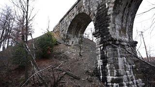 West Hazleton (PA) United States  City pictures : Abandoned Wilkes-Barre / Hazleton Railroad / Trolley has 116 year old stone arch bridge