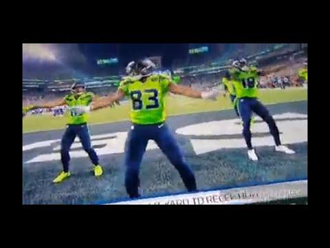 Seattle Seahawks David Moore Touchdown Celebration  Dance