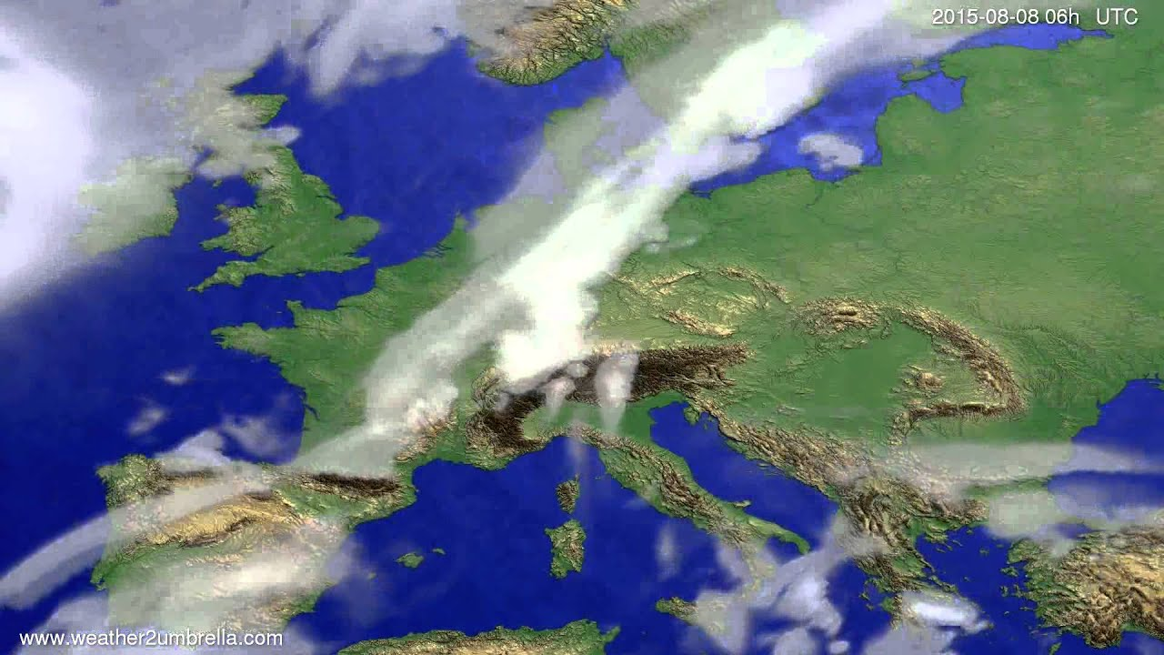 Cloud forecast Europe 2015-08-04
