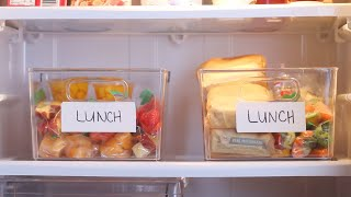 Tired Of Packing Lunches Every Morning? Organize Your Fridge So Your Family Can Pack Their Own! by Tasty
