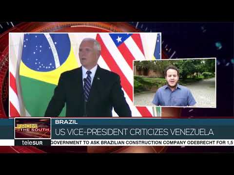 Mike Pence Visits Venezuelan Migrants In Brazil