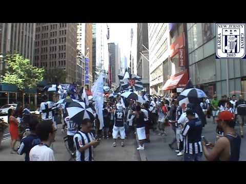 Clasico - Marcha Blanquiazul en el Times Square - Manhattan - Comando SVR - Alianza Lima - Peru - América del Sur