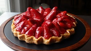 Fresh Strawberry Tart - Easy Free-Form Strawberry Tart Recipe by Food Wishes
