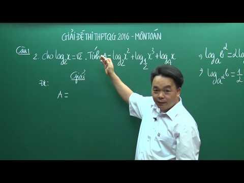 Giải đề Toán kì thi THPTQG 2016 (P1) - Thầy Lê Bá Trần Phương